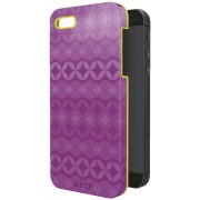 Carcasa LEITZ Complete Retro Chic, pentru iPhone 5/5S - mov/galben