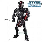 Generic KSZ Star Wars Buildable Action Figure Model Building Blocks Darth Vader Finn Rey Poe K-2SO Jango Fett General Grievous Toys Gift Pink