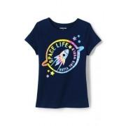 Lands' End Grafik-Shirt für große Mädchen - Sonstige - 128/134 von Lands' End