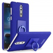 Nokia 8 Imak Ring Case with Screen Protector - Blue