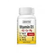 Vitamina D3+K2+Ca+Mg Complex 30cps Zenyth