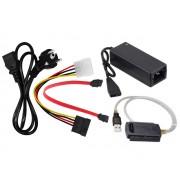 """NTR ADAP61 USB - 2,5"""" és 3,5"""" IDE/SATA adapter + SATA kábel + tápegység"""