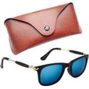Royce Wayfarer, Retro Square, Rectangular Sunglasses(Blue, Green)