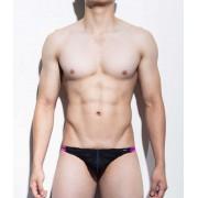 Mategear Rang Se Special Fabrics Series Textured Ultra Sexy Maximizer Thong Underwear Black 1091201