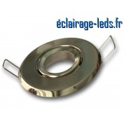 Support LED MR11 encastrable chrome orientable perçage 53mm ref sln-01