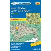 Tabacco N° 046 Lana/Etschtal-Lana/Val d'Adige (1:25.000)