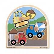 Дървен пъзел камиони, Melissa and Doug, 000772133951