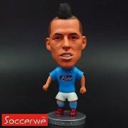 "Pi² Football Star Soccer player 17# Marek Hamsik (Napoli) 2.5"" Toy Action Figure 2014-2015 season"