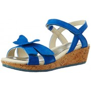 Clarks Girl's Harpy Wings Denim Leather Fashion Sandals - 11.5 UK
