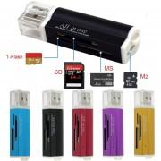 Multi All In 1 Adaptador De Lector De Tarjetas De Memoria Micro USB