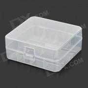 RRUSTU MT-01 plastico 2 x 26650 caja de almacenamiento de la bateria - blanco translucido
