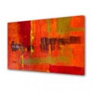 Tablou Canvas Premium Abstract Multicolor Culori Topite In Foc Decoratiuni Moderne pentru Casa 80 x 160 cm