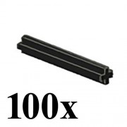 LEGO LEGO TECHNIC 100 pcs BLACK AXLE SIZE 4 STUDS STUD LENGTH Cross Rod Short Mindstorms robot motor part piece 3705 NXT ev3 robotics