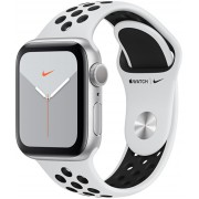 Apple Watch Series 5 Nike 44mm aluminiu argintiu cu curea albă Nike
