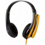 Слушалки Canyon CNS-CHSC1BY, микрофон, 3.5 mm jack, черен/жълт, CNS-CHSC1BY