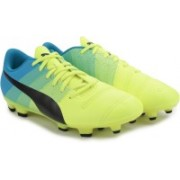 Puma evoPOWER 4.3 FG Football Studs For Men(Blue, Yellow)