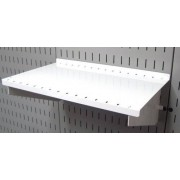 """Wall Control ASM-SH-1609 W 9"""" Deep Pegboard Shelf Assembly for Pegboard and Slotted Tool Board, White"""