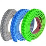 SuSenGo 3 Rolls Green Blue Grey 9.8Feet/3meter Loops Building Block Tape Roll Self-Adhesive