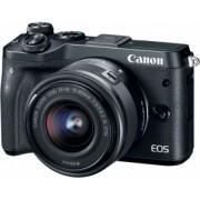 Aparat Foto Digital Compact Canon EOS M6 EF-M 15-45MM Negru