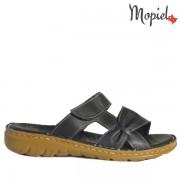 Papuci dama, din piele naturala 260303/Negru/Deea