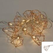 Kaemingk Światełka bożonarodzeniowe Diamant 12 ciepło biała LED 2,2 m