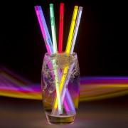 Cannucce colorate Starlight Fluorescenti - 6 pezzi