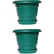 Crete Pvc Green Planter ( Set Of 2 Pcs )