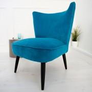 Fotoliu stil Retro albastru Sixties