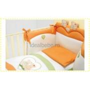Baby Expert Italia - Set de pat CUORE crem-verde