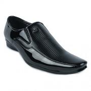Shoe Island Designer Patent Black Slip-On Formal Shoes