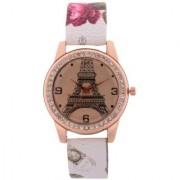 FARP Analog Eiffel tower Design White Colour Womens Watches Ladies Watches Girls Watches Designer Watches