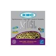 Corrente Kmc X10sl Gold / Dourado 116 Elos - Vazada - 10v