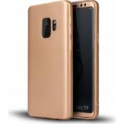Husa FullBody Silicon MyStyle Gold pentru Samsung Galaxy S9 Plus acoperire completa 360 grade cu folie de protectie gratis