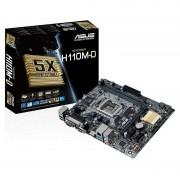 ASUS MB H110M-D, SUPPORT 6TH GEN INTEL CORE I7/I5/I3/PENTIUM/CELERON SOCKET 1151, CHIPSET H110, 2 x DIMM DDR4 , MAX 32GB, HDMI / D-Sub, USB 3.0 PUERTO PARALELO y SERIAL