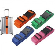 DIY Crafts 1 inch Luggage Straps Suitcase Lock Belt Strap Luggage Straps Rainbow Color Adjustable Suitcase Belts For Traveling Business Trip (Pack Of 4 Pcs Multi - Color)