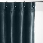 Am.pm Cortinado em veludo, ilhós pequenos, LavezziAzul-Pavão- 140 x 260 cm