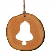 Glob de craciun - Clopotel din felie de lemn New Way Decor