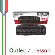 Tastiera Keyboard Multimediale USB 2.0 Vultech per PC Desktop Computer