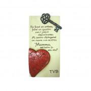 Cartal scolpito per te targhetta mamma cuore rosso