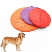 18cm Pet Dog Frisbee Rubber Floating Flying Disc Pet Products Dog Bite Training Soft Frisbee