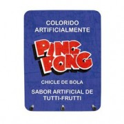 Porta Chaves Chiclete Ping Pong
