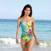 Schwab Bademoden SunSelect®-Badeanzug, 42 - Gelb/Grün/Pink