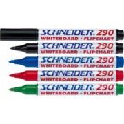 Marker SCHNEIDER Maxx 290 pentru tabla de scris flipchart varf rotund 2-3mm 4 cul-set N.R.A.V