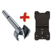 Wolfcraft 8728000 Pánthelymaró/fenék-/forstner/erdész fúró, 35 mm, jelölősablonnal, pántokhoz