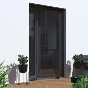 Jarolift Moskitiera magnetyczna drzwiowa, czarna, 160 x 230 cm