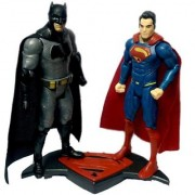 Emob Batman Superman Dawn of Justice Collectable Action Figure Toy with Light Music (Multicolor)