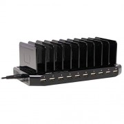 Tripp Lite U280-010-ST USB Charging Station Dock with Storage Slots for Tablets/iPhone/iPad/Laptops, 10-Port