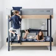 Lenjerie de pat copii 140 x 200 cm Flexa Popsicle Blueberry cu perna de 50x70 cm