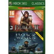 Xbox 360 Fable II + Halo Wars (tweedehands)