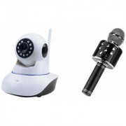 Zemini Wifi CCTV Camera and WS 858 Microphone Karake With Bluetooth Speaker for MICROMAX CANVAS HD PLUS(Wifi CCTV Camera with night vision |WS 858 Microphone Karake With Bluetooth Speaker)